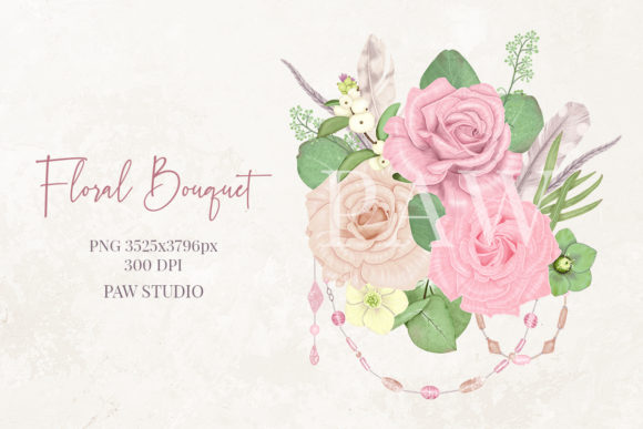 Print on Demand: Boho Collection Floral Decorations Graphic Illustrations By PawStudio - Image 4