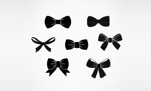 Download Free Bow Tie Ribbon Graphic Graphic By Svg Den Creative Fabrica for Cricut Explore, Silhouette and other cutting machines.