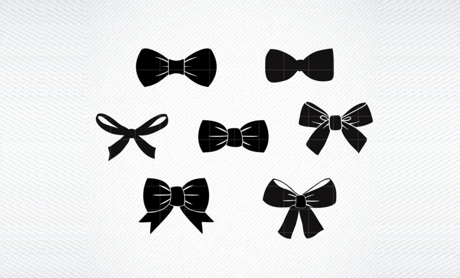 Bow Tie Ribbon Graphic Graphic By Svg Den Creative Fabrica