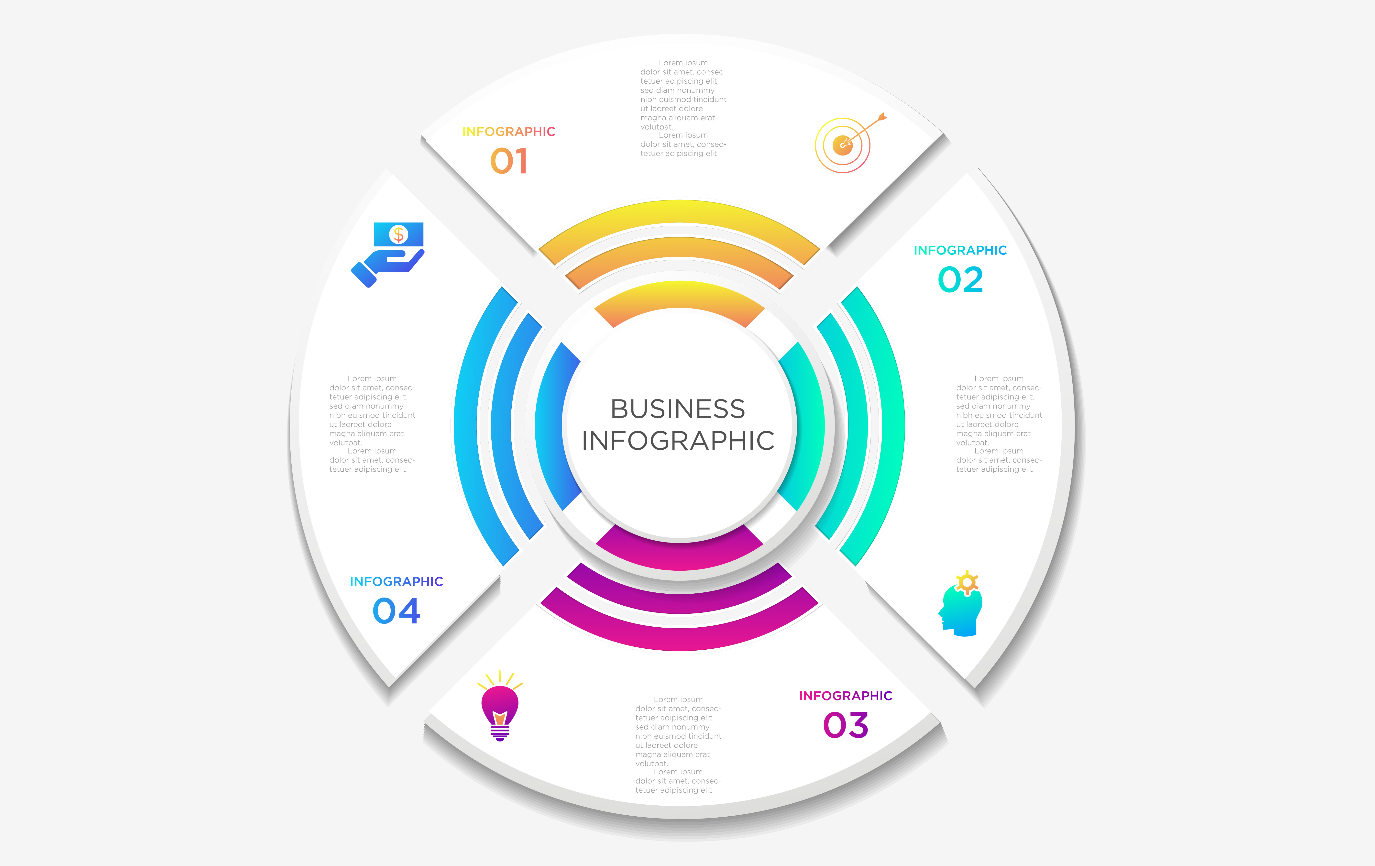 Download Free Business Infographics Template Graphic By Ngabeivector for Cricut Explore, Silhouette and other cutting machines.