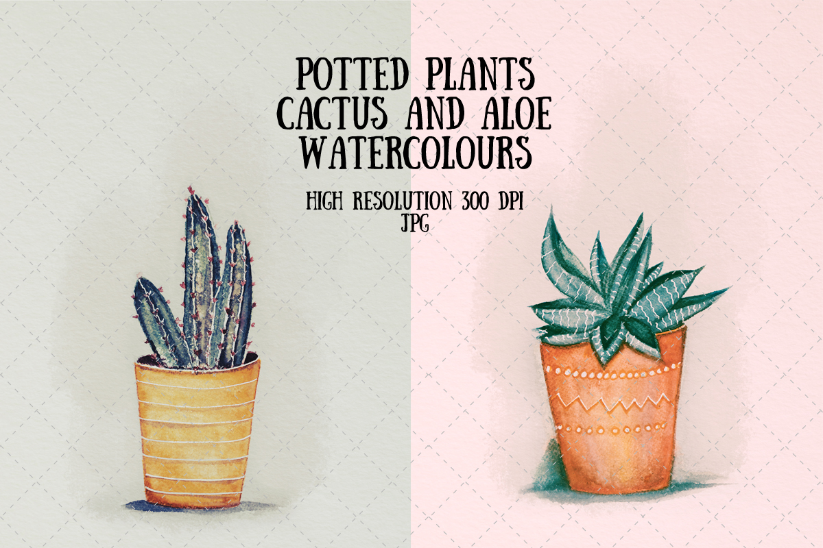Download Free Cactus And Succulent Watercolour Graphic By My Little Black for Cricut Explore, Silhouette and other cutting machines.