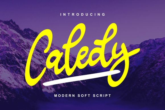 Print on Demand: Caledy Script & Handwritten Font By Vunira