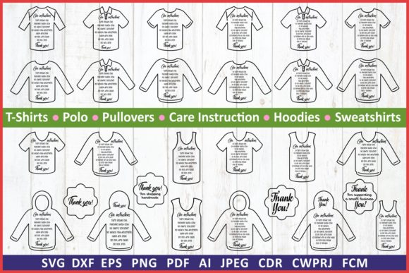 Download Free Care Instruction Tshirts Graphic By Millerzoa Creative Fabrica for Cricut Explore, Silhouette and other cutting machines.