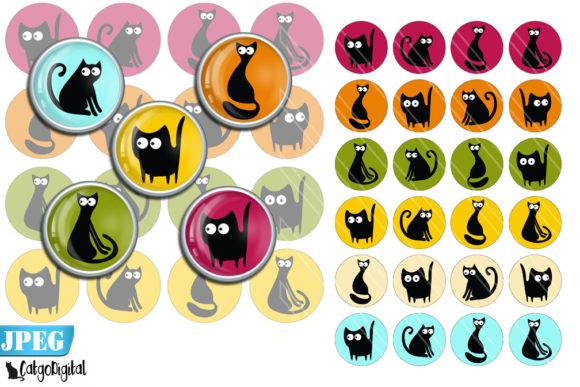 Download Cat Silhouettes Printable Digital Images SVG Cut Files