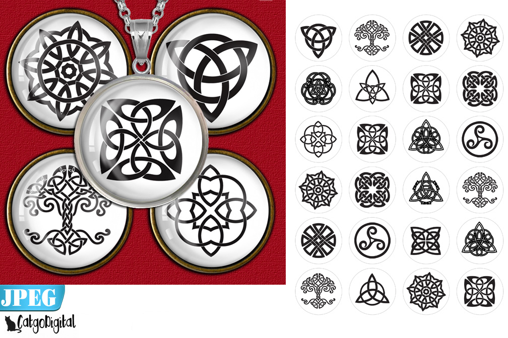 Download Free Celtic Knots Circle Printable Images Graphic By Catgodigital for Cricut Explore, Silhouette and other cutting machines.