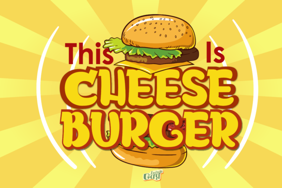 Print on Demand: Cheeseburger Display Font By JujunGag