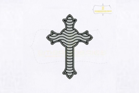 Christian Cross Religion & Faith Embroidery Design By royalembroideries