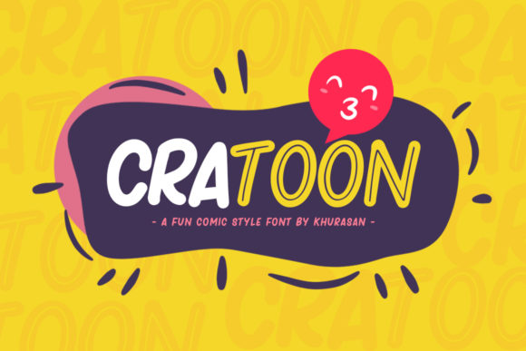 Print on Demand: Cratoon Display Font By Khurasan
