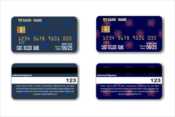 Download Free Credit Card Template Graphic By The Keys Creative Fabrica for Cricut Explore, Silhouette and other cutting machines.