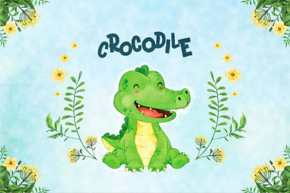 Print on Demand: Crocodile Nursery Decor Graphic Illustrations By accaliadigital