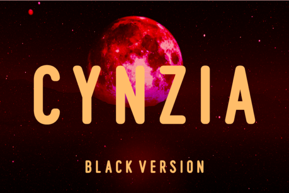 Print on Demand: Cynzia Black Sans Serif Font By Huntype