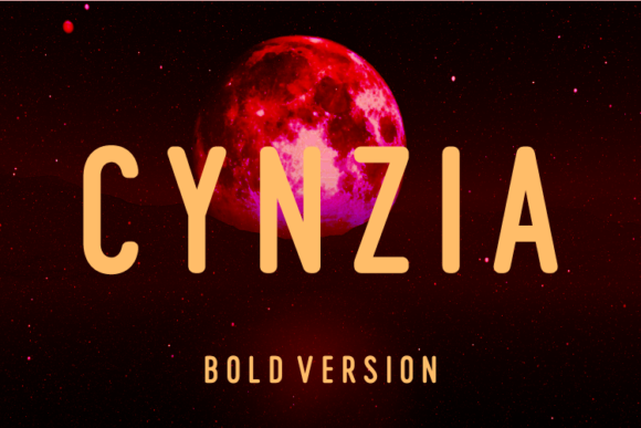 Print on Demand: Cynzia Bold Sans Serif Font By Huntype
