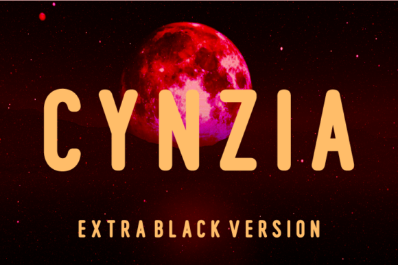 Print on Demand: Cynzia Extra Black Sans Serif Font By Huntype