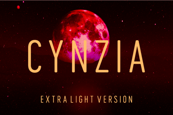 Print on Demand: Cynzia Extra Light Sans Serif Font By Huntype