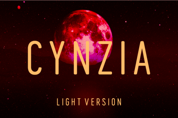 Print on Demand: Cynzia Light Sans Serif Font By Huntype