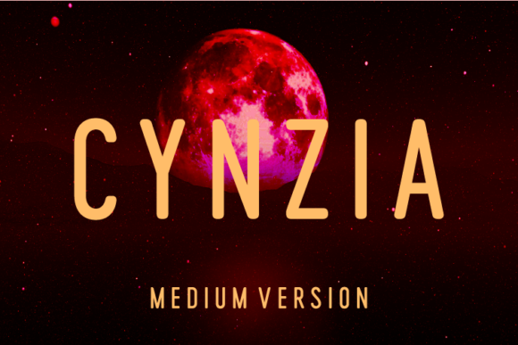 Print on Demand: Cynzia Medium Sans Serif Font By Huntype