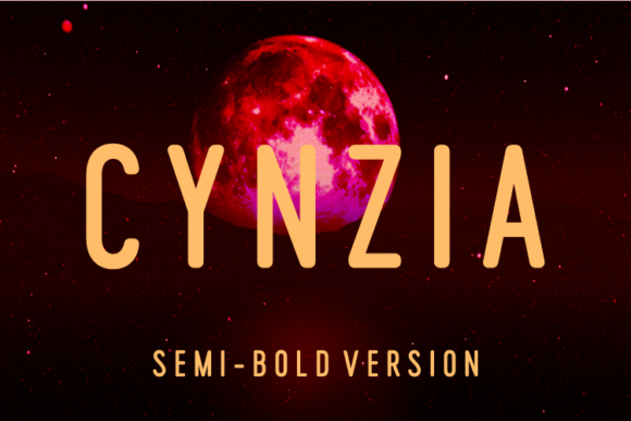 Print on Demand: Cynzia Semi-Bold Sans Serif Font By Huntype