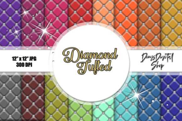 Diamond Tufted Backgrounds, Tufted Graphic Crafts By denysdigitalshop