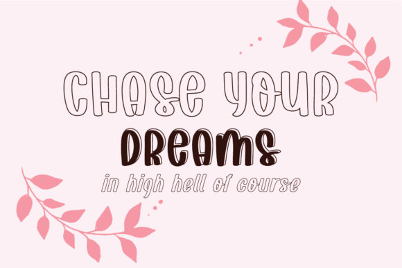 Download Free Dream Without Fear Font By Bitongtype Creative Fabrica for Cricut Explore, Silhouette and other cutting machines.