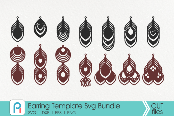 Earrings Template Graphic Crafts By Pinoyartkreatib
