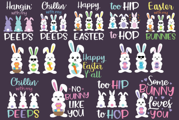 Download Free Easter Bunnies Bundle Grafico Por All About Svg Creative Fabrica for Cricut Explore, Silhouette and other cutting machines.