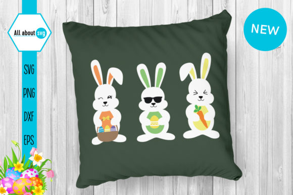 Easter Bunnies Bundle Graphic Crafts By All About Svg - Image 9