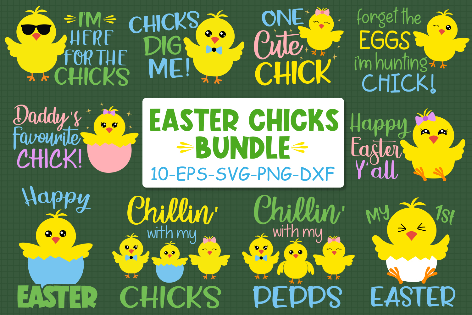 Easter Chicks Bundle Graphic By All About Svg Creative Fabrica