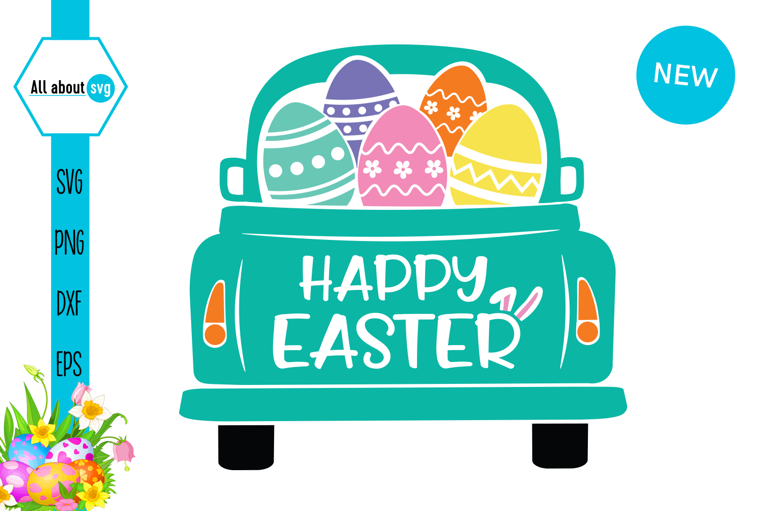 Download Free Easter Truck Graphic By All About Svg Creative Fabrica for Cricut Explore, Silhouette and other cutting machines.