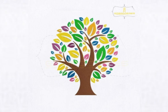 Eco Tree Forest & Trees Embroidery Design By royalembroideries