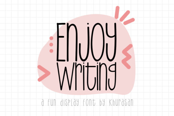 Print on Demand: Enjoy Writing Display Font By Khurasan
