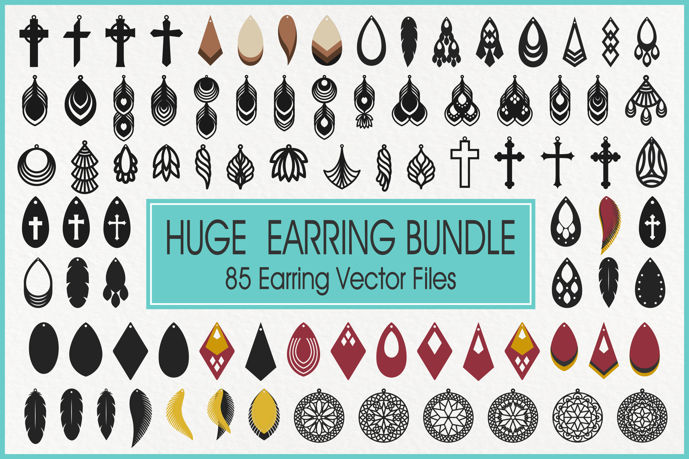 Download Free Faux Leather Earrings Graphic By Pinoyartkreatib Creative Fabrica for Cricut Explore, Silhouette and other cutting machines.