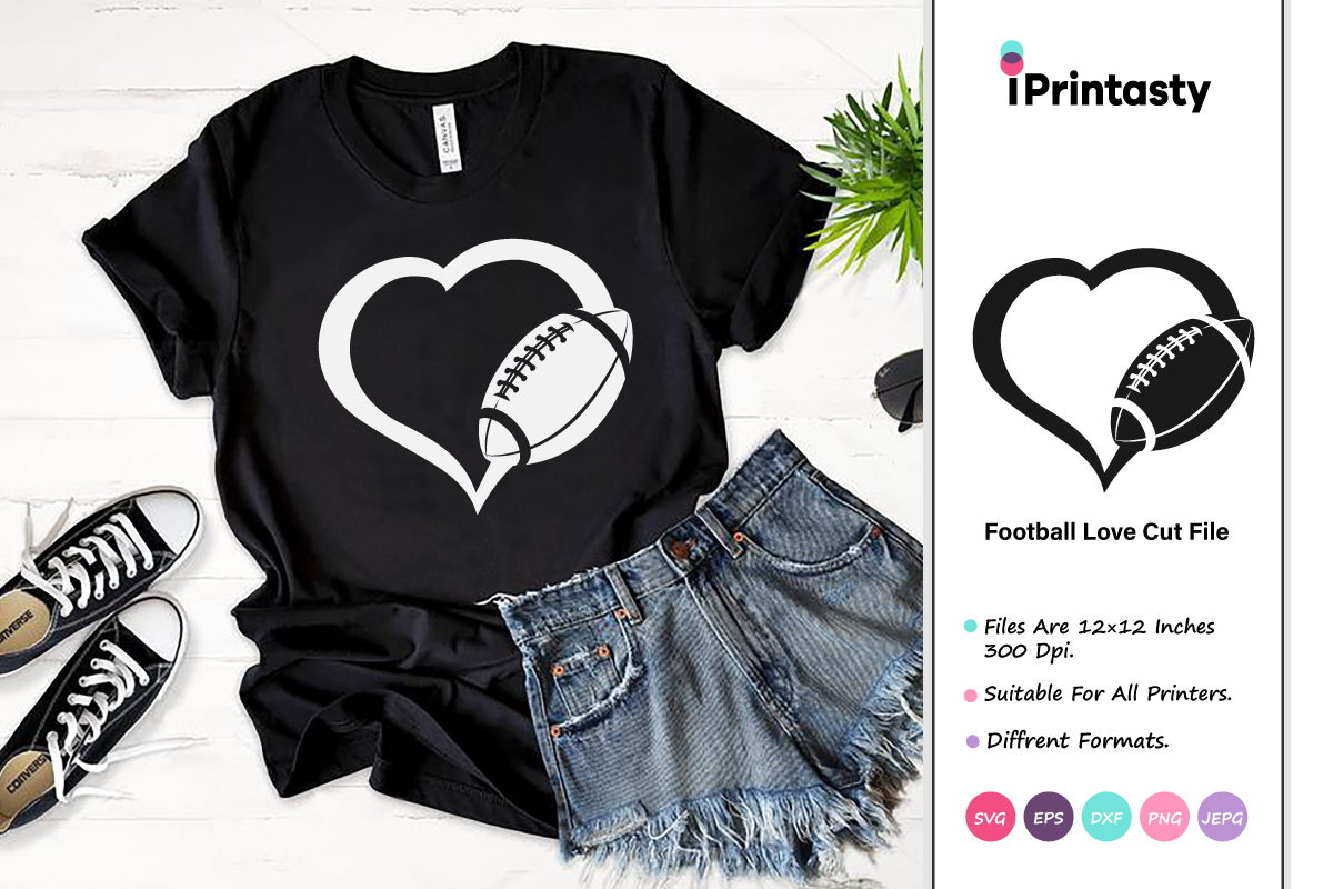 Download Free Football Love Graphic By Iprintasty Creative Fabrica for Cricut Explore, Silhouette and other cutting machines.