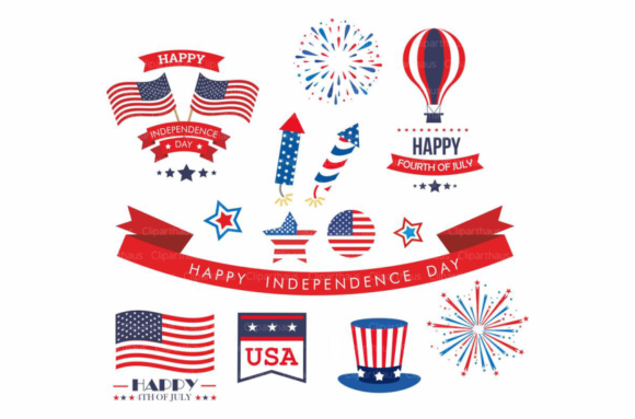 Download Free Fourth Of July Clip Art Vector Graphic Graphic By Svg Den for Cricut Explore, Silhouette and other cutting machines.