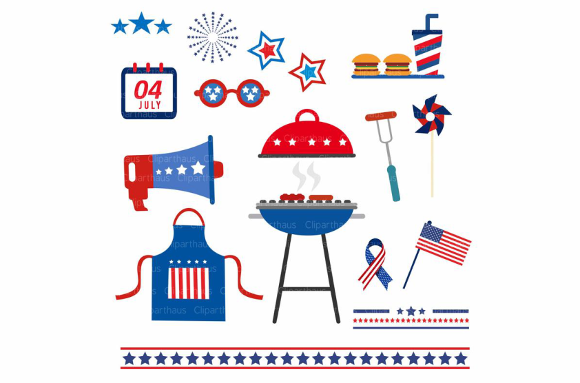 Download Free Fourth Of July Vector Clipart Graphic Graphic By Svg Den for Cricut Explore, Silhouette and other cutting machines.