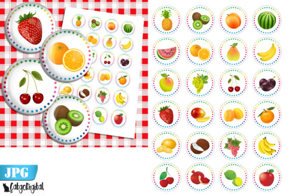 Download Free Fruits Bottle Cap Images Printable Image Grafico Por for Cricut Explore, Silhouette and other cutting machines.