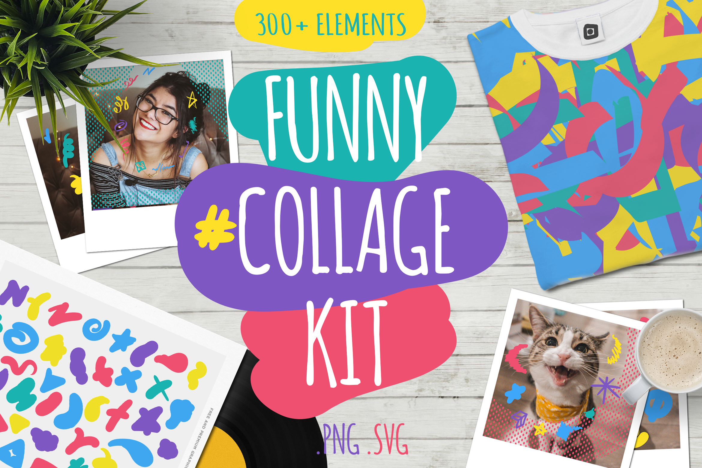 Download Free Funny Collage Kit Grafico Por Barsrsind Creative Fabrica for Cricut Explore, Silhouette and other cutting machines.