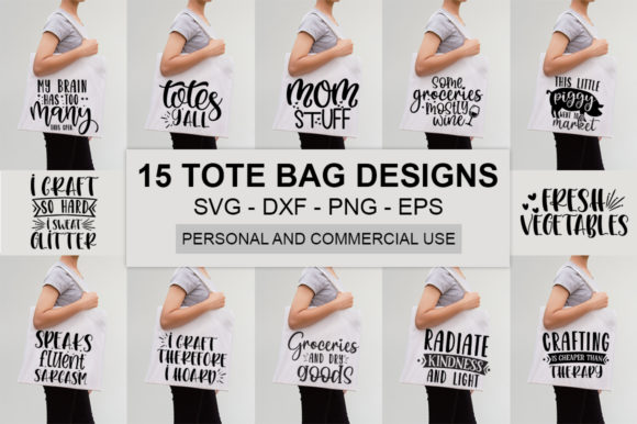 Download Free Funny Tote Bag Quotes Bundle Graphic By Designdealy Com for Cricut Explore, Silhouette and other cutting machines.