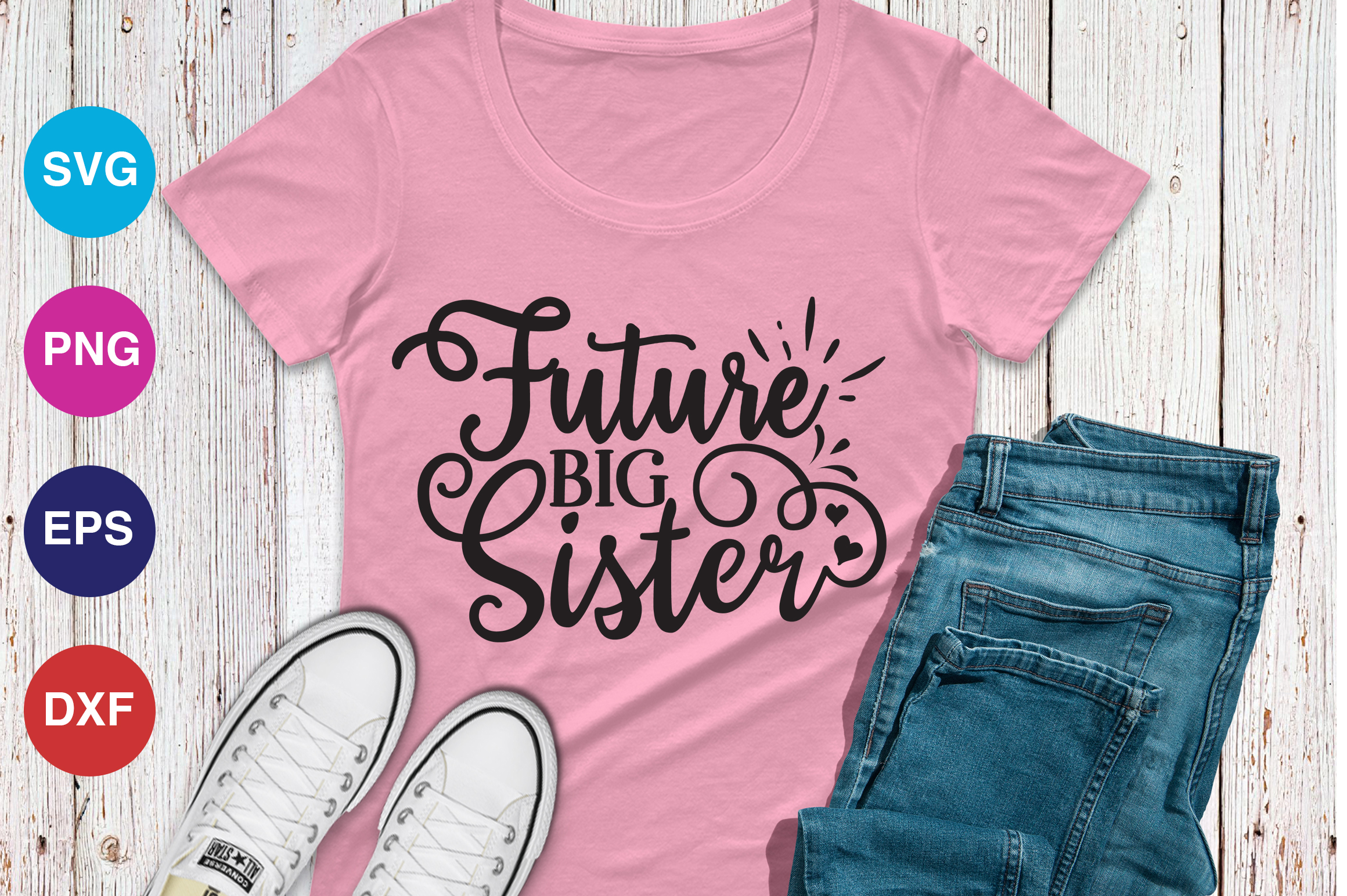 Download Free Future Big Sister Graphic By Orindesign Creative Fabrica for Cricut Explore, Silhouette and other cutting machines.