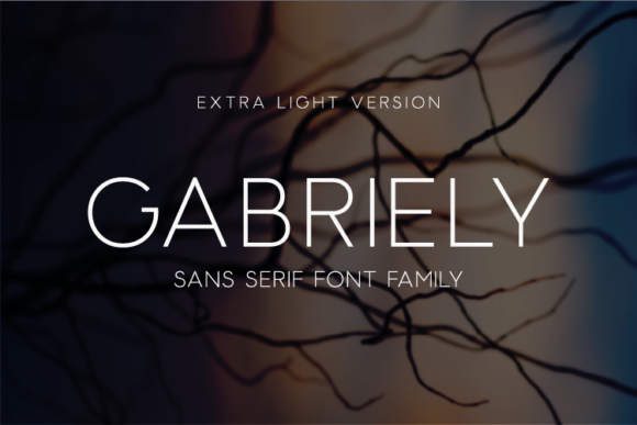 Print on Demand: Gabriely Extra Light Sans Serif Font By Huntype