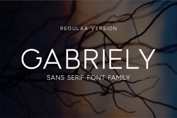 Print on Demand: Gabriely Sans Serif Font By Huntype