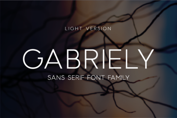Print on Demand: Gabriely Light Sans Serif Font By Huntype