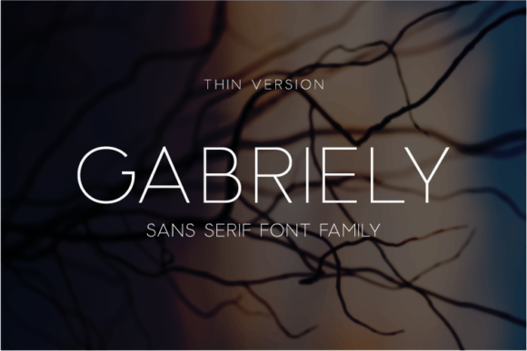 Print on Demand: Gabriely Thin Sans Serif Font By Huntype
