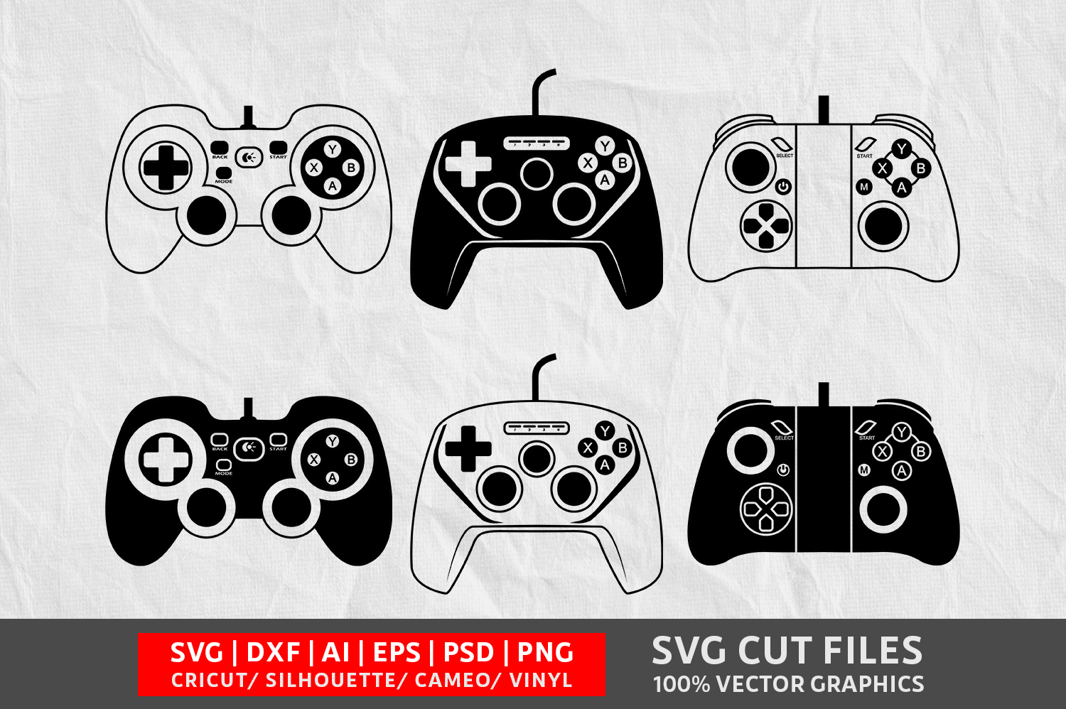 Download Free Game Controller Image Graphic By Design Palace Creative Fabrica for Cricut Explore, Silhouette and other cutting machines.