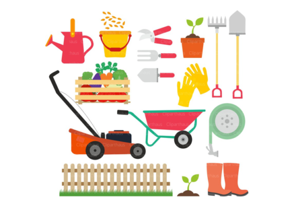 Download Free Gardening Vector Clipart Graphic By Svg Den Creative Fabrica for Cricut Explore, Silhouette and other cutting machines.