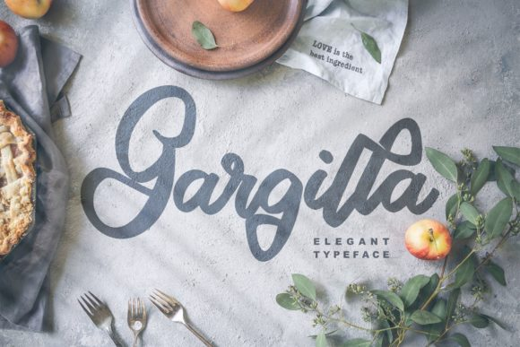 Print on Demand: Gargilla Script & Handwritten Font By Vunira