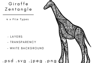 Print on Demand: Giraffe Zentangle Graphic Coloring Pages & Books Adults By Linnypig Designs