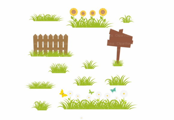 Download Free Grass Vector Clipart Graphic Graphic By Svg Den Creative Fabrica for Cricut Explore, Silhouette and other cutting machines.