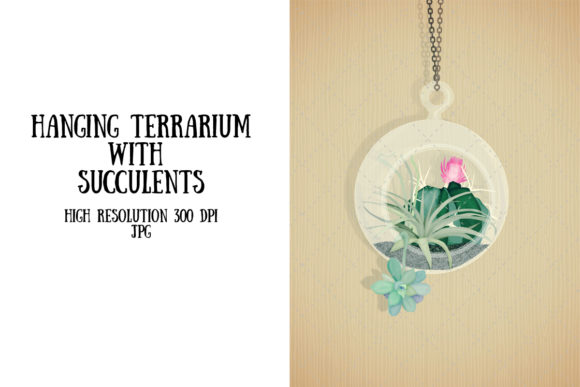 Download Free Hanging Terrarium Graphic By My Little Black Heart Creative for Cricut Explore, Silhouette and other cutting machines.