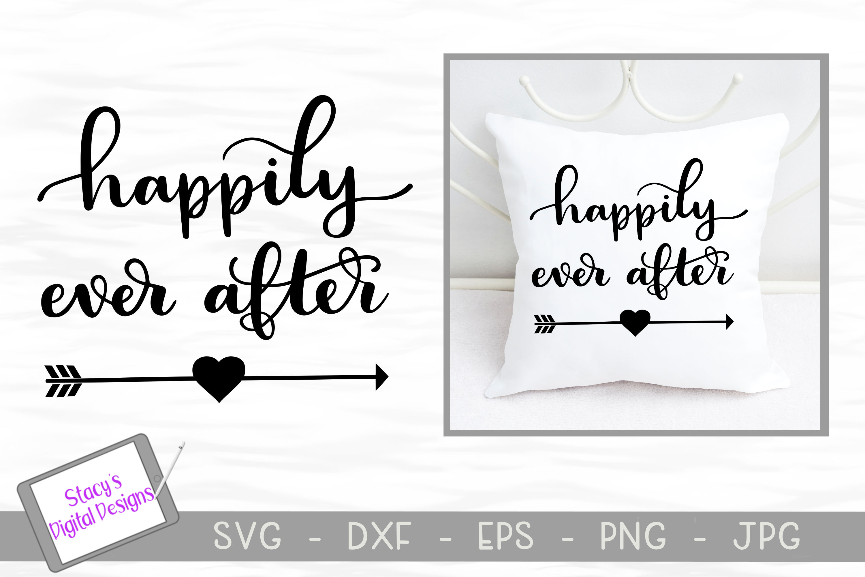 Download Free Happily Ever After Wedding Graphic By Stacysdigitaldesigns for Cricut Explore, Silhouette and other cutting machines.