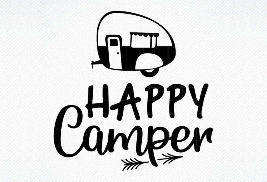 Download Free Happy Camper Graphic Graphic By Svg Den Creative Fabrica for Cricut Explore, Silhouette and other cutting machines.